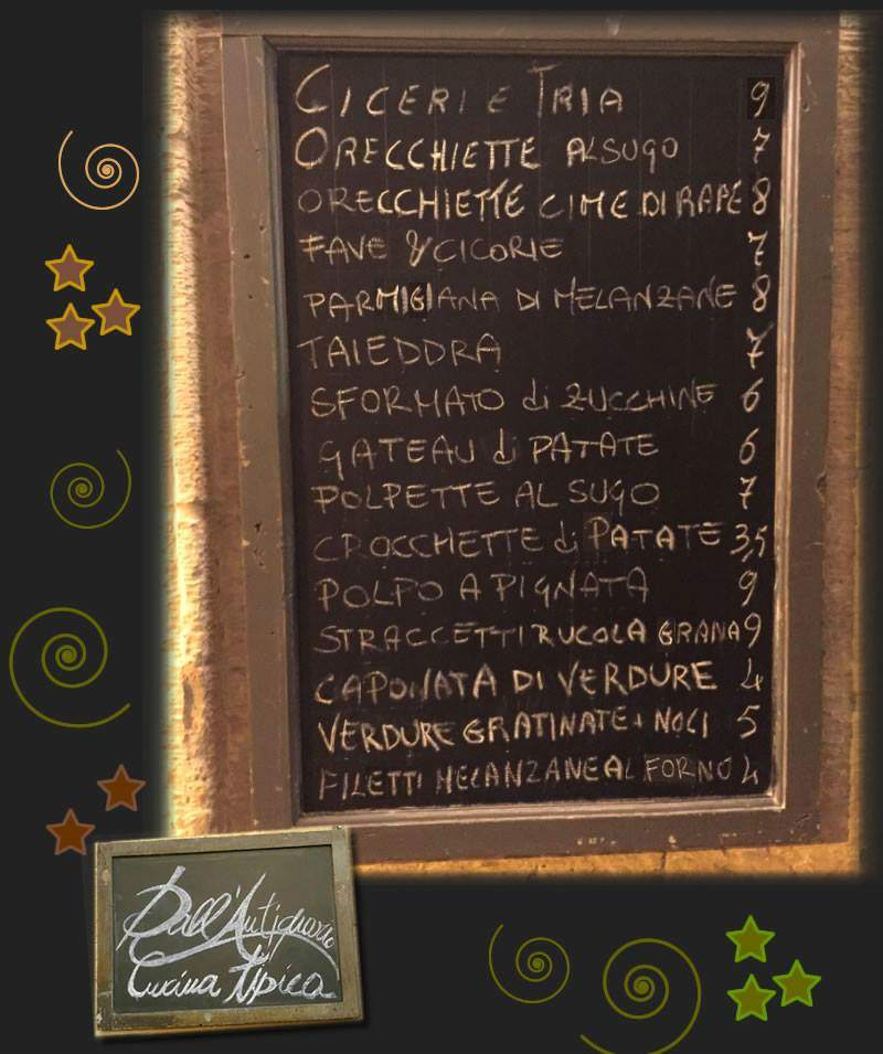 menu dall'antiquario 2016