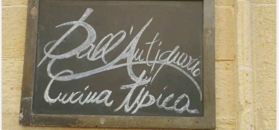 lavagnetta dall'antiquario lecce ristorante | Una bella scoperta nel cuore di Lecce