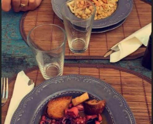 polipo ciciri e tria | E l'antiquario si reinventa | Dall'Antiquario ristorante a Lecce